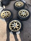 Mg Zs Zr Alloy Wheels With Tyres 4x100 With 205 50 16 Tyres Painted Gold