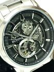 Bulova Men's 96A208 Skeletonized Black Dial Stainless Steel Automatic Watch