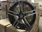 18 MERCEDES BENZ AMG BLACK MACHINE RIMS STAGGERED CLS550 CLS CLASS