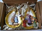 Nativity Oyster Christmas Ornament 2PC BOX SET New Orleans favor gift Shell nola