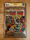 Iron Man #55 CGC Signature Series 1st Appearance of Thanos. Signed Jim Starlin
