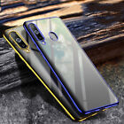 For Samsung Galaxy A40 C7 Pro Ultra Thin Plating Silicone Case Clear Phone Cover