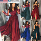 Fashion Women Bridesmaid Evening Party Cocktail Club Long Maxi Dress Formal US