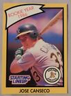 1989 Starting Lineup Jose Canseco Oakland A's Baseball Card
