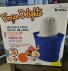 Rival Frozen Delight 4 Quart Ice Cream Frozen Yogurt and Sorbet Maker