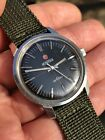 Vintage Roamer Anfibio Black Crosshair Dial Swiss Steel 347mm