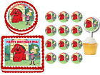 Clifford the Big Red Dog Edible Birthday Party Cake Topper Plastic Cupcake Picks