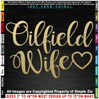 Oilfield Wife Text girl drill pump oil Roughneck Trash Frac Patch Pickup Decal