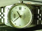 NEW SWISS OCTO CRYSTAL DIAMOND DAY DATE AUTO 2834 MENS VINTAGE OYSTER WATCH