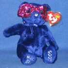 TY MARDI GRAS the BEAR BEANIE BABY - MINT with MINT TAG