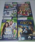 Xbox 360 Kinect Games Lot Tintin Motion Sports Biggest Loser Kinect Adventures