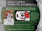 2019 Topps Tribute Sealed Hobby box Presell 8 07