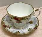 RARE ROYAL ALBERT ROSE CAMEO VIOLET PURPLE OLD COUNTRY ROSES TEA CUP