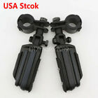 Foot Pegs Mount For Harley Davidson Touring Engine Guard 1'' to 1-1/4