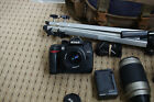 Nikon D70s c/w AF Nikkor 35-70mm , 70-300mm Lenses + F55 Film Camera + more