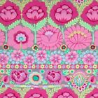 Free Spirit Kaffe Fassett Large Scale Embroidered Flower Border PWKF001 Pink BTY