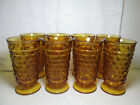 8 -  Vintage Indiana Whitehall Colony Amber Iced Tea Glasses