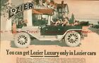 1912 LOZIER AUTOMOBILES b/w TEXACO OIL back to back COLOR Paper Ads