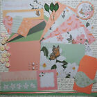 Card Making Kit Blossom Paper and Embellishments to Make 5 Cards