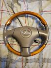 OEM Taupe Leather Wood LEXUS RX300 GS300 400 SC300 400 3 spoke steering wheel