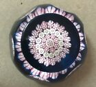 1984 Caithness Whitefriars Millefiori Paperweight w Butterfly Silhouette