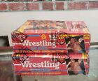 Lot (2) 1985 WWE WWF OPC + Topps Wrestling Cards Series One Wax Box (BBCE)