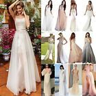Womens Summer Long Maxi Dress Bridesmaid Prom Ball Gown Wedding Party Evening US