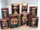 Hallmark Keepsake Lot Of 8 Ornaments Together Hershey Santa Christmas Xmas