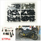 177Pcs Motorcycle Fairing Bumper Panel Bolts Kit Bodywork Fastener Clips Screw