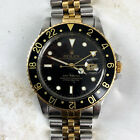 Vintage Rolex GMT-Master Two-Tone Black and Gold Wristwatch Ref. 16753 FULL SET