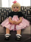 NPK 24 Reborn Baby Dolls Weighted Cloth Body Toddler Girl Doll Real Size Look