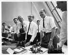 APOLLO 11 Orig NASA 8x10 Press Photo Von Braun in Launch Control