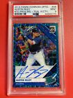 PSA 9 2019 Donruss OPTIC FOTL Austin Riley Rc Teal Velocity Autograph Auto 04 35