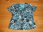 NWOT BARCO ONE MULTI COLORED SHORT SLEEVE SCRUB TOP SIZE 2XL
