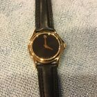 Movado Lady's Watch Model 87 E4 0834 With Black Leather Band