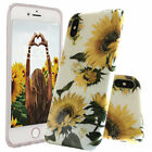 Hybrid Girl Cute Sunflower TPU Rubber Soft Case For iPhone 7 8 Plus XR XS Max