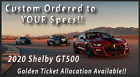 2020 Ford Mustang Shelby GT500 2020 Shelby GT500 Custom Order to your specs Auction is for Over MSRP