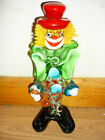 MURANO GLASS CLOWN STATUE