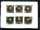 LOT of 6 MURANO GLASS SWIRL BALL CHRISTMAS ORNAMENT 325