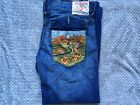 True Religion Joey Mens Jeans Embroidered Washed Torn Vintage
