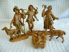 Vtg 6 pc Set REPLACEMENTS  FONTANINI Depose ITALY Christmas NATIVITY figures