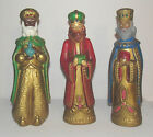 Three Kings Paper Mache Figurines Wisemen Nativity Decorama Japan 12 1 4 Tall