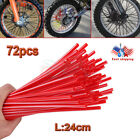 Red 72X Spoke Skins Covers for Motocross Bike Wheel Rim Guard Protector Wraps