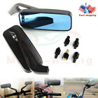 BLACK CNC RECTANGLE MOTORCYCLE For CRUISER CHOPPER REARVIEW SIDE MIRRORS 8/10MM