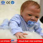 22 Reborn Dolls Newborn Baby Silicone Vinyl Real Baby Boy Doll Gift + Clothes
