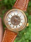 Vintage Camy Geneve Bowtie Lugs Gold Plated Automatic Mens Watch Swiss Made 35mm