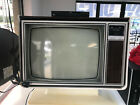 Vintage Zenith TV 25 inch color television white console. LOCAL PICK UP ONLY