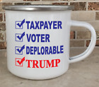 Camping Cup Camper Mug Stainless Steel Coffee Taxpayer Voter Deplorable Trump