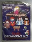 Vintage Titan Needlecraft Felt Nativity Holy Family Ornament Set Craft Kit