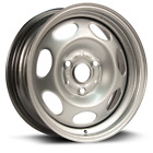 New 15 Inch 3 Lug Silver Steel Wheels Fits Smart Car 2008 thru 2014 WE90258N